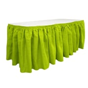 LA Linen Burlap Table Skirt; Lime