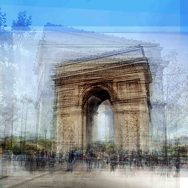 Marmont Hill 'Arc Du Triomphe' by Chris Albert Painting Print on Wrapped Canvas; 32'' H x 32'' W