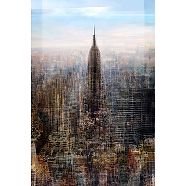 Marmont Hill 'Empire State' by Chris Albert Painting Print on Wrapped Canvas; 24'' H x 16'' W