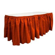 LA Linen Burlap Table Skirt; Red