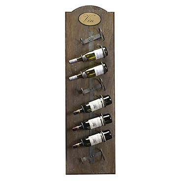 French Heritage French Accents 8 Bottle Wall Mounted Wine Rack; Brown Timberwood