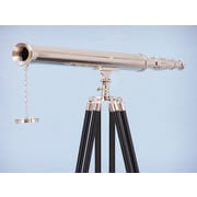 Handcrafted Nautical Decor Harbor Master Refracting Telescope; Chrome