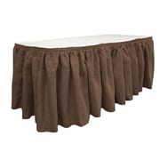 LA Linen Burlap Table Skirt; Brown