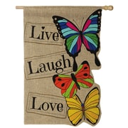 Evergreen Enterprises, Inc Live Laugh Love Vertical Flag