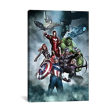 iCanvas Marvel Comics The Avengers & Loki Graphic Art on Canvas; 26'' H x 18'' W x 0.75'' D