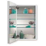 Jensen Metro 15.13 inch x 25.13 inch Recessed or Surface Mount Medicine Cabinet by