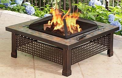 Pleasant Hearth Bradford Metal Wood Burning Fire Pit Table