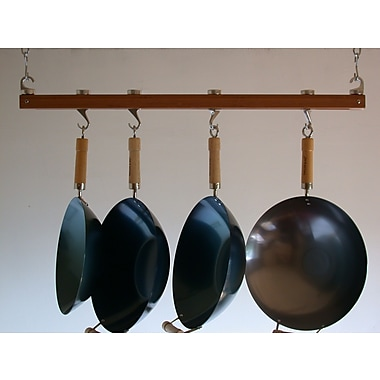 Taylor & Ng Track Rack Ceiling Pot Rack; Burnished Bamboo