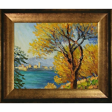 Tori Home Antibes, View of Salis by Claude Monet Framed painting