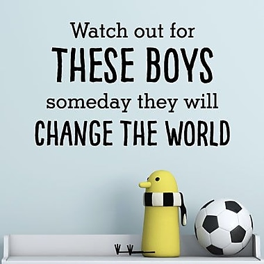 Belvedere Designs LLC These Boys Will Change The World Wall Quotes Decal (Set of 101)