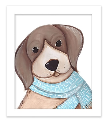 Doodlefish Bently Beagle by Regina Nouvel Framed Painting Print