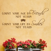 DecaltheWalls Count Your Age by Friends Wall Decal; Brown