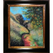 Tori Home Path at Pourville by Claude Monet Framed Painting