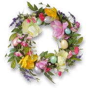 National Tree Co. 20'' Tulip and Easter Egg Wreath