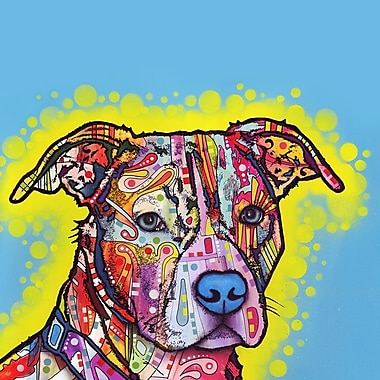 My Wonderful Walls Painted Pit Bull Wall Decal; Small
