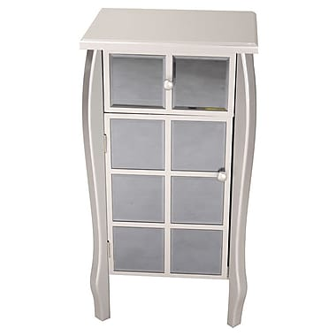 Heather Ann 1 Drawer 1 Door Bombay Accent Cabinet; Smoke Silver