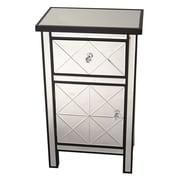 Heather Ann 1 Drawer 1 Door Accent Cabinet; Black