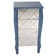 Heather Ann 1 Drawer 1 Door Bombay Accent Cabinet; Blue