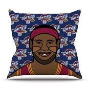KESS InHouse Lebron James Throw Pillow; 26'' H x 26'' W x 5'' D