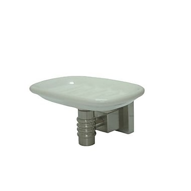 Elements of Design Fortress Soap Dish; Satin Nickel