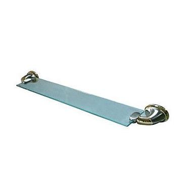 Elements of Design Metro Wall Shelf; Satin Nickel/Polished Brass