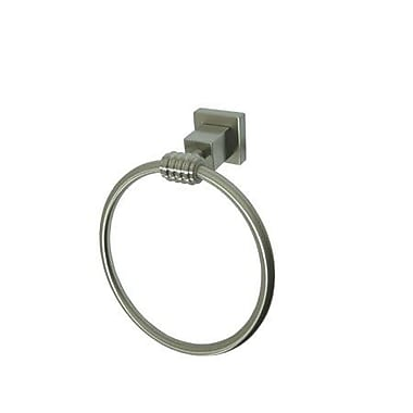 Elements of Design Fortress Wall Mounted Towel Ring; Satin Nickel