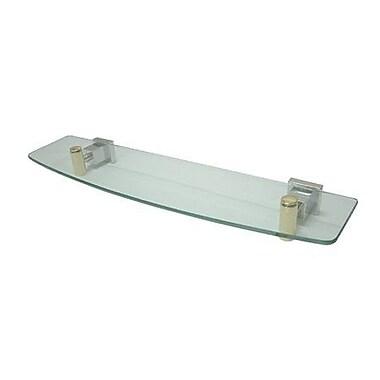 Elements of Design Claremont Wall Shelf; Polished Chrome/Polished Brass