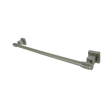 Elements of Design Fortress 18'' Wall Mounted Towel Bar; Satin Nickel