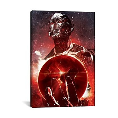 iCanvas Marvel Comics Ultron Holding The Earth Graphic Art on Canvas; 60'' H x 40'' W x 1.5'' D