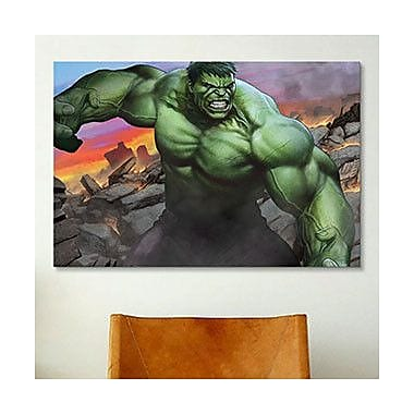 iCanvas Marvel Comics Angry Hulk Graphic Art on Canvas; 12'' H x 18'' W x 1.5'' D