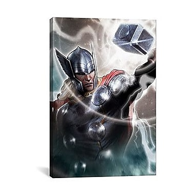 iCanvas Marvel Comics Thor, The Asgardian Graphic Art on Canvas; 26'' H x 18'' W x 0.75'' D