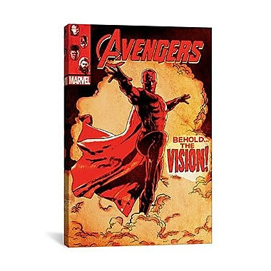 iCanvas Marvel Comics The Vision, Comic Book Cover Vintage Advertisement on Canvas