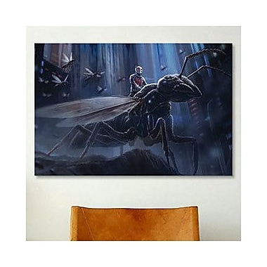 iCanvas Marvel Comics The Ant-Man Ride Graphic Art on Canvas; 40'' H x 60'' W x 1.5'' D
