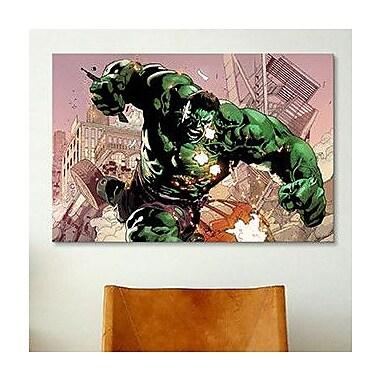 iCanvas Marvel Comics Hulk Smash, Comic Book Graphic Art on Canvas