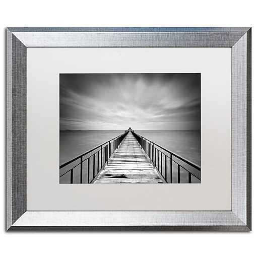 "Trademark Fine Art ''Withstand'' by Michael de Guzman 16"" x 20"" White Matted Silver Frame (ALI0286-S1620MF)"