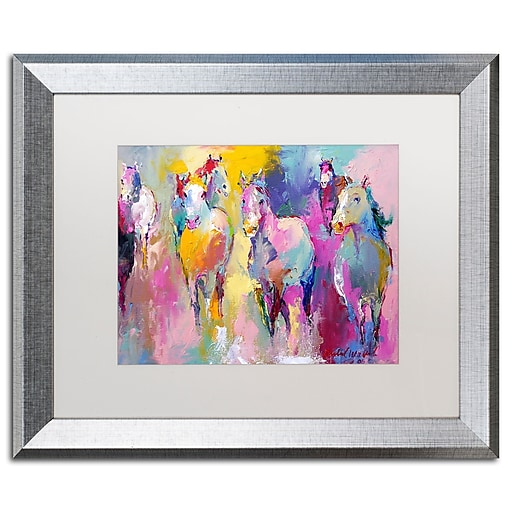 "Trademark Fine Art ''Wild'' by Richard Wallich 16"" x 20"" White Matted Silver Frame (ALI0361-S1620MF)"