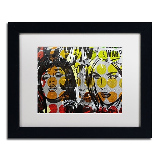 "Trademark Fine Art ''Another War'' by Dan Monteavaro 11"" x 14"" White Matted Black Frame (ALI0948-B1114MF)"