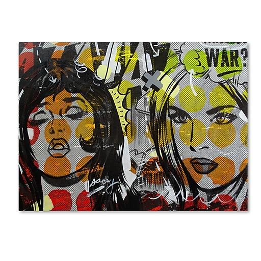 "Trademark Fine Art ''Another War'' by Dan Monteavaro 18"" x 24"" Canvas Art (ALI0948-C1824GG)"