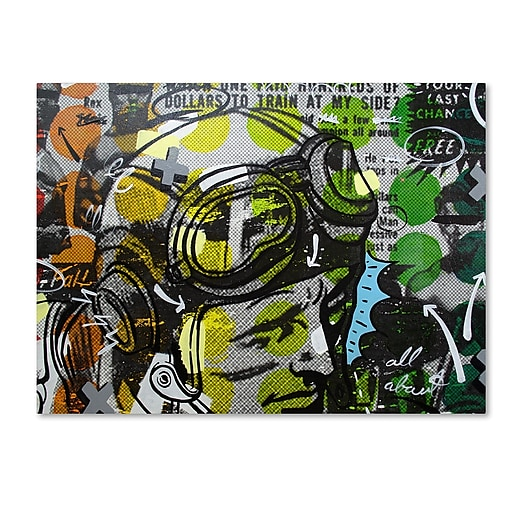 "Trademark Fine Art ''He Man'' by Dan Monteavaro 24"" x 32"" Canvas Art (ALI0955-C2432GG)"