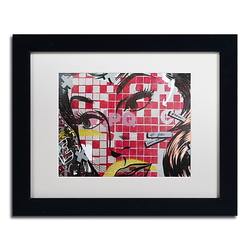 "Trademark Fine Art ''If You Can'' by Dan Monteavaro 11"" x 14"" White Matted Black Frame (ALI0956-B1114MF)"