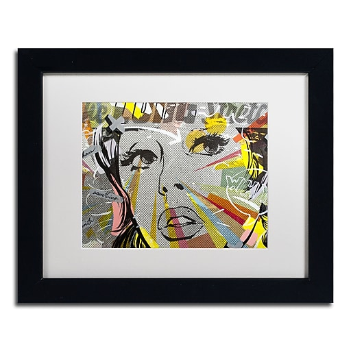 "Trademark Fine Art ''The Long Stretch'' by Dan Monteavaro 11"" x 14"" White Matted Black Frame (ALI0965-B1114MF)"