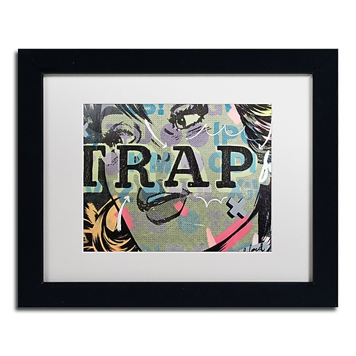 "Trademark Fine Art ''Trap'' by Dan Monteavaro 11"" x 14"" White Matted Black Frame (ALI0966-B1114MF)"