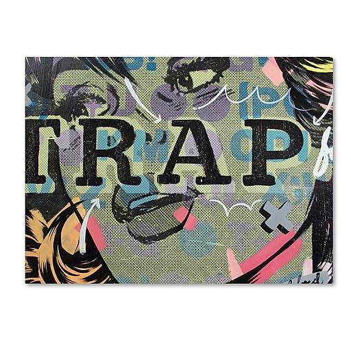 "Trademark Fine Art ''Trap'' by Dan Monteavaro 24"" x 32"" Canvas Art (ALI0966-C2432GG)"