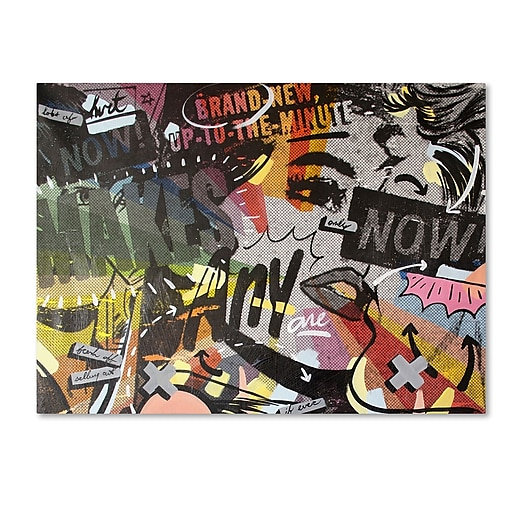 "Trademark Fine Art ''Anyone Now'' by Dan Monteavaro 24"" x 32"" Canvas Art (ALI0967-C2432GG)"