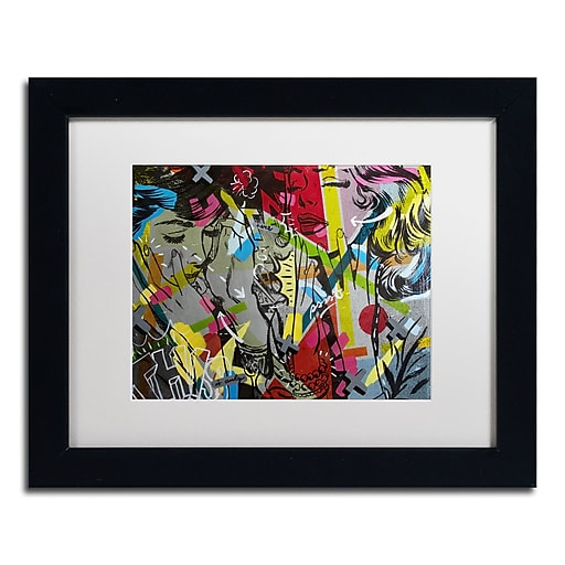 "Trademark Fine Art ''This is Only'' by Dan Monteavaro 11"" x 14"" White Matted Black Frame (ALI0971-B1114MF)"