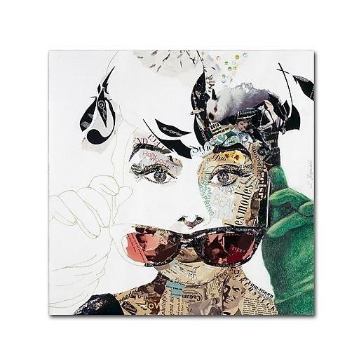 "Trademark Fine Art ''Audrey'' by Ines Kouidis 35"" x 35"" Canvas Art (ALI0976-C3535GG)"