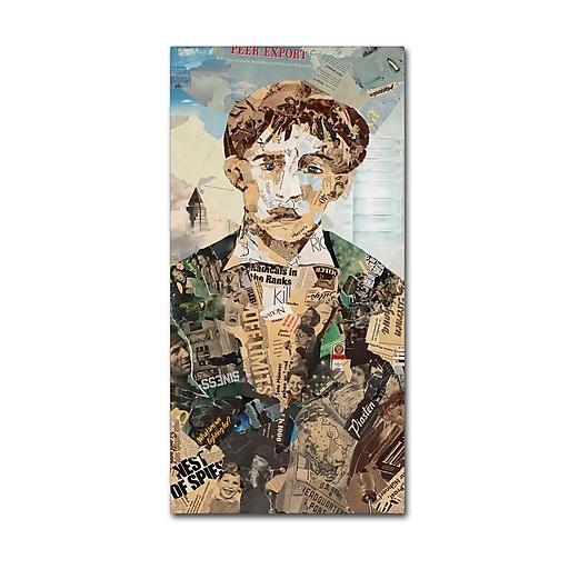 "Trademark Fine Art ''Babyface II'' by Ines Kouidis 16"" x 32"" Canvas Art (ALI0977-C1632GG)"