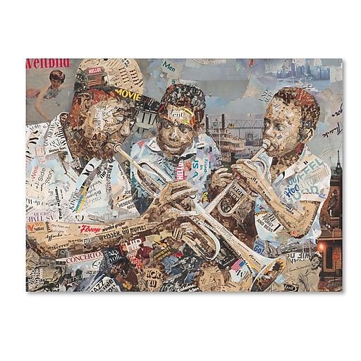 "Trademark Fine Art ''Blues Boys'' by Ines Kouidis 18"" x 24"" Canvas Art (ALI0980-C1824GG)"