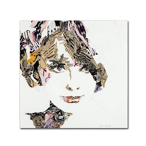 """Trademark Fine Art ''Elke'' by Ines Kouidis 14"""" x 14"""" Canvas Art (ALI0983-C1414GG)"""
