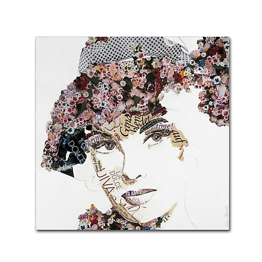 "Trademark Fine Art ''Gina'' by Ines Kouidis 24"" x 24"" Canvas Art (ALI0985-C2424GG)"